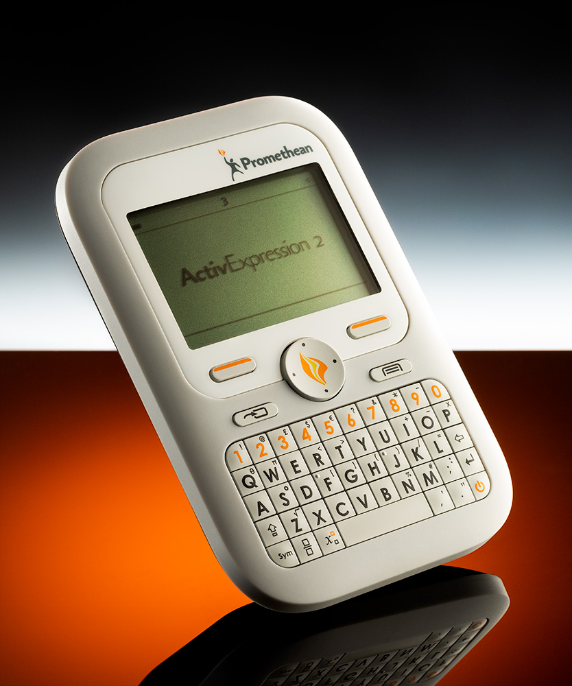 Imagehouse Studios creative product photography of Promethean ActivExpression Learner response handset