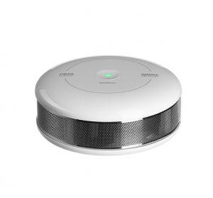 Imagehouse Studios product photography of Fibar Smoke sensor on white background